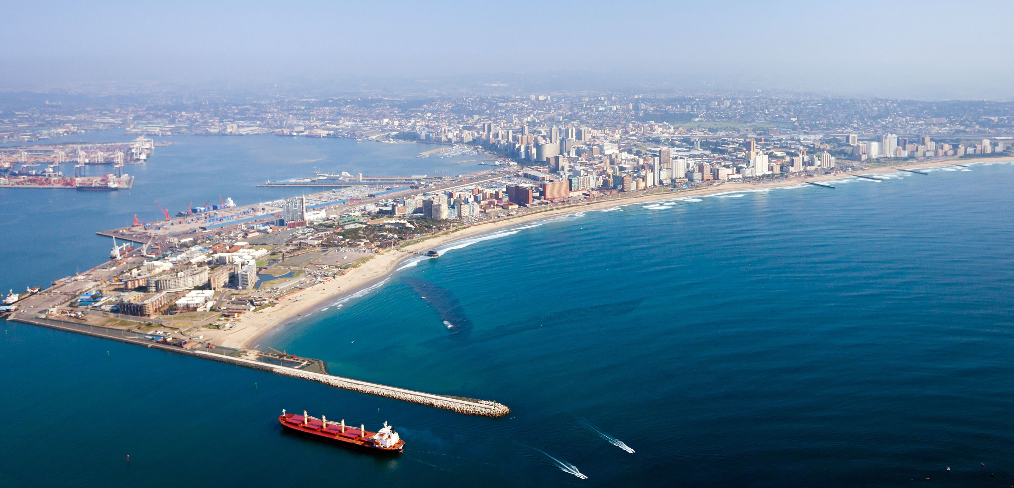 durban city and harbor, south africa